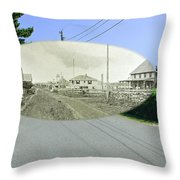 Rhode Island Road At Sakonnet Point In Little Compton Rhode Island Throw Pillow