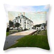 Richard Gambrell Residence In Newport Rhode Island Throw Pillow