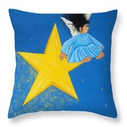 Ride A Shooting Star Throw Pillow