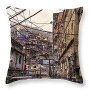 Rio De Janeiro Brazil - Favela Throw Pillow