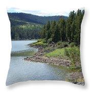 River Reservoir Throw Pillow
