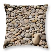 River Rocks Pebbles Throw Pillow