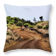 Road On Hierro Throw Pillow