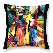 Road To The Market Throw Pillow
