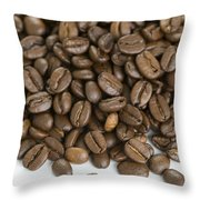 Roasted Coffee Beans Throw Pillow