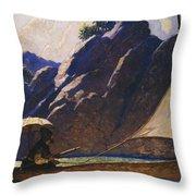 Robinson Crusoe, 1920 Throw Pillow