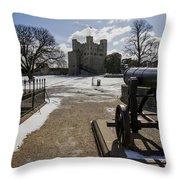 Rochester Castle Throw Pillow
