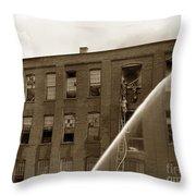 Rochester Show Case Co. Fire New York State Circa 1904 Throw Pillow