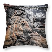 Rock Formations At Georgian Bay Throw Pillow