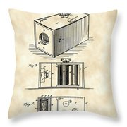 Roll Film Camera Patent 1888 - Vintage Throw Pillow