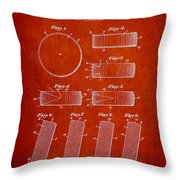 Roll Prevention Hockey Puck Patent Drawing From 1940 Throw Pillow