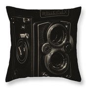 Rolleiflex Throw Pillow