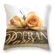Paris Romantic Throw Pillow