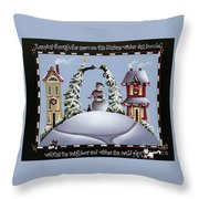 Romping Through The Snow Throw Pillow