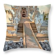 Rong Khun Temple Throw Pillow by Adrian Evans