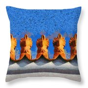 Roof Decoration Throw Pillow