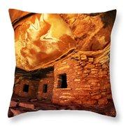 Roof Falling In Ruin Utah Throw Pillow