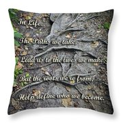 Roots Throw Pillow by Brian Wallace