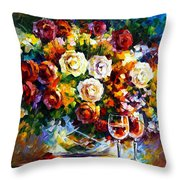 Roses And Wine Throw Pillow