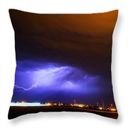 Round 2 More Late Night Servere Nebraska Storms Throw Pillow