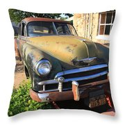 Route 66 Classic Car Throw Pillow