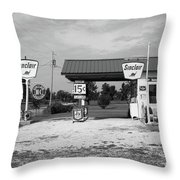 Route 66 Gas Station Throw Pillow