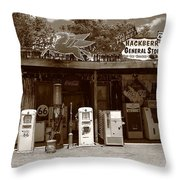 Route 66 - Hackberry General Store Throw Pillow