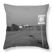 Route 66 - Oklahoma Throw Pillow