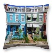Row Houses In Washington D.c. Throw Pillow