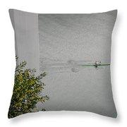 Rower On Douro Throw Pillow