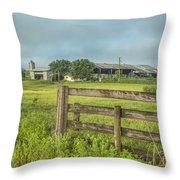 Rural Farm Throw Pillow