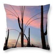 Saguaro Silhouettes Throw Pillow