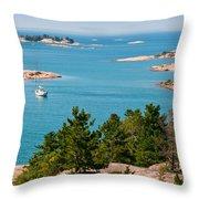 Sailboat In Georgian Bay Throw Pillow