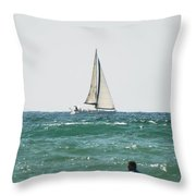 Sailing In California Throw Pillow