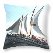 A Rolling Sea Throw Pillow