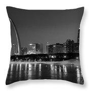 Saint Louis Skyline Throw Pillow