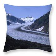 Salmon Glacier Throw Pillow