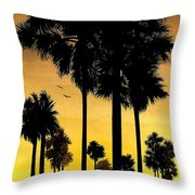 San Diego Sunset Throw Pillow