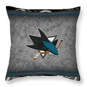San Jose Sharks Throw Pillow