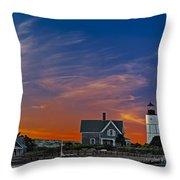Sandy Neck Lighthouse Throw Pillow