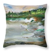 Santa Cruz Beach Throw Pillow