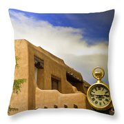 Santa Fe Time Throw Pillow