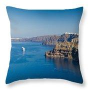 Santorini Caldera Throw Pillow
