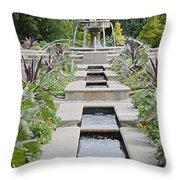Sarah Lee Baker Perennial Garden 3 Throw Pillow