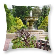 Sarah Lee Baker Perennial Garden  4 Throw Pillow
