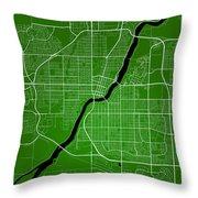 Saskatoon Street Map - Saskatoon Canada Road Map Art On Colored  Throw Pillow