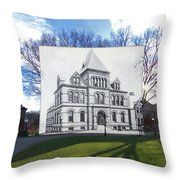 Sayles Hall At Brown University In Providence Rhode Island Throw Pillow