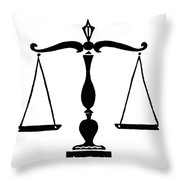 Scales Of Justice Throw Pillow