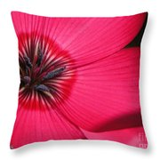Scarlet Flax Throw Pillow