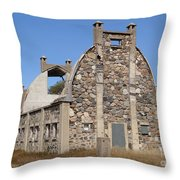 Schott Stone Barn Throw Pillow